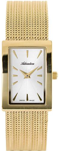 Zegarek damski Adriatica bransoleta A3600.1113Q - duże 1