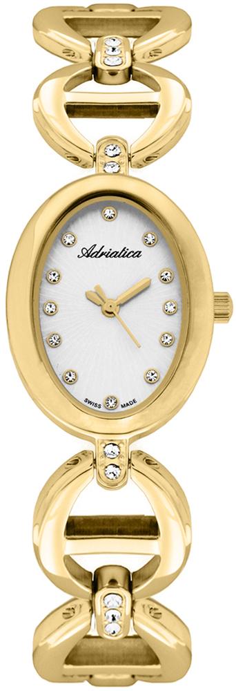 Zegarek damski Adriatica bransoleta A3625.1143QZ - duże 1