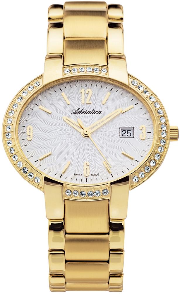 Zegarek damski Adriatica bransoleta A3627.1153QZ - duże 1