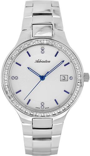 Zegarek damski Adriatica bransoleta A3694.51B3QZ - duże 1