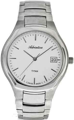 Zegarek męski Adriatica tytanowe A8201.4113Q - duże 1