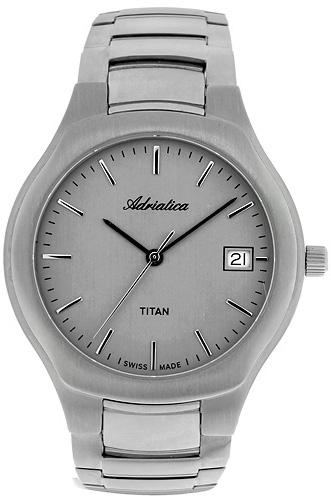 Zegarek męski Adriatica tytanowe A8201.4117 - duże 1