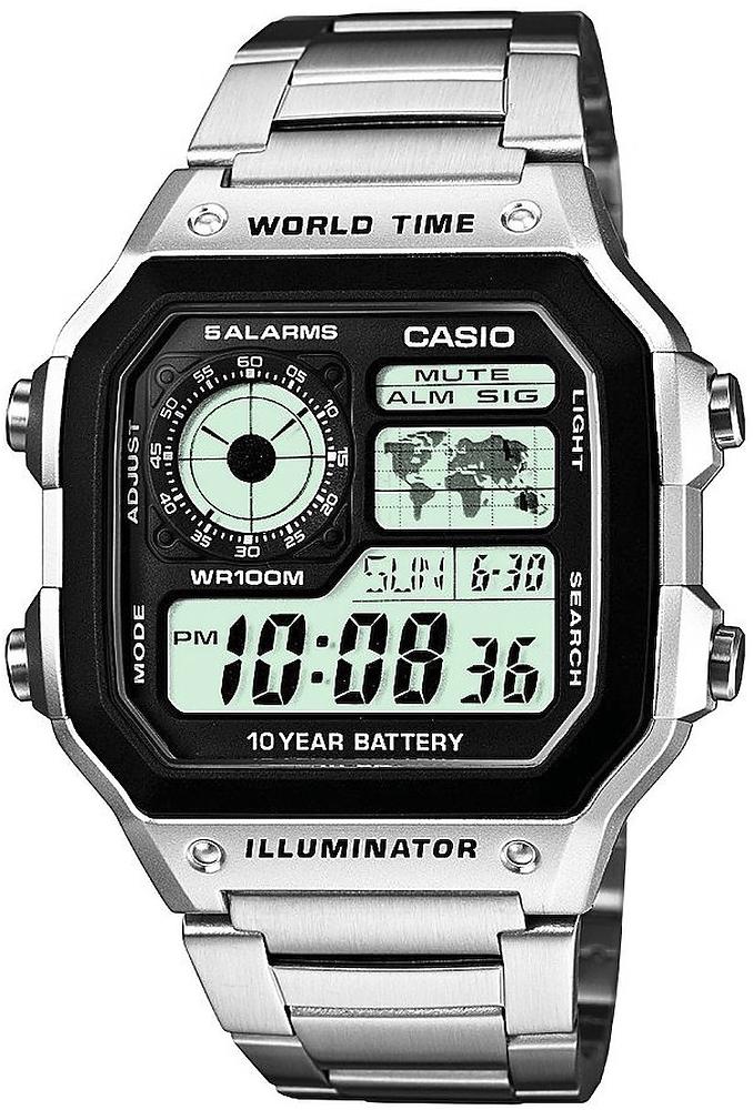 Zegarek Casio AE-1200WHD-1A-POWYSTAWOWY - duże 1