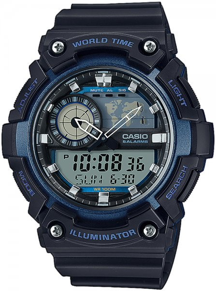 AEQ-200W-2AVEF - zegarek męski - duże 3
