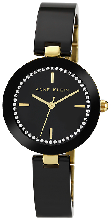 Zegarek damski Anne Klein bransoleta AK-1314BKBK - duże 1