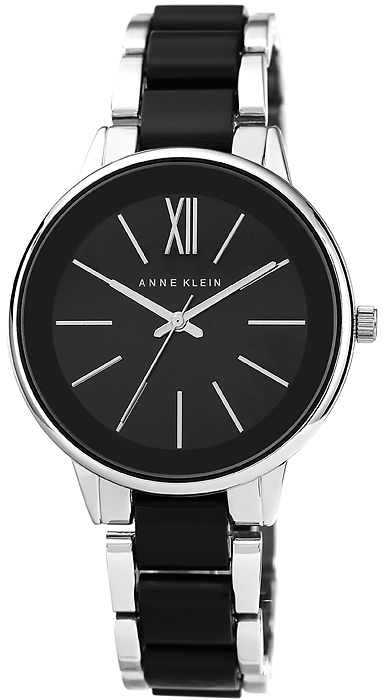 Zegarek damski Anne Klein bransoleta AK-1413BKSV - duże 1