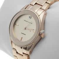 Zegarek damski Anne Klein bransoleta AK-1434CHGB - duże 2