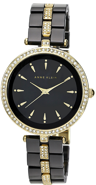 Zegarek damski Anne Klein bransoleta AK-1444BKGB - duże 1