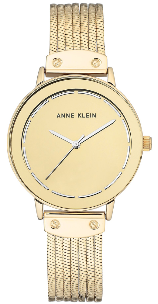 6e8fb84c8 Zegarek damski Anne Klein bransoleta AK-3222GMGB - duże 1