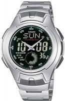 Zegarek męski Casio analogowo - cyfrowe AQ-160WD-1BVEF - duże 1
