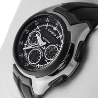 Zegarek męski Casio analogowo - cyfrowe AQ-163W-1B1VEF - duże 2