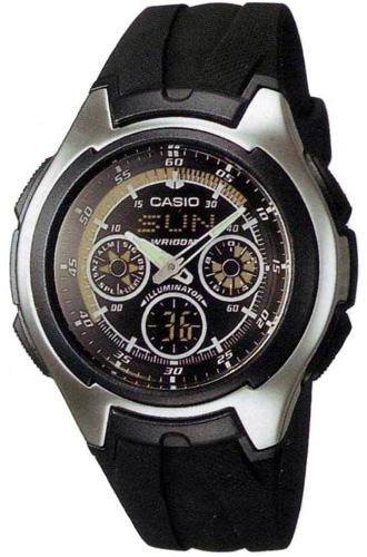 Zegarek męski Casio analogowo - cyfrowe AQ-163W-1B1VEF - duże 1