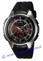 Zegarek męski Casio analogowo - cyfrowe AQ-163W-1B2 - duże 1