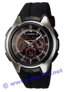 Zegarek Casio AQ-163W-1B2 - duże 1