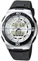 Zegarek męski Casio analogowo - cyfrowe AQ-164W-7AVEF - duże 1