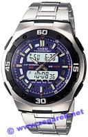 Zegarek męski Casio analogowo - cyfrowe AQ-164WD-2AVEF - duże 1