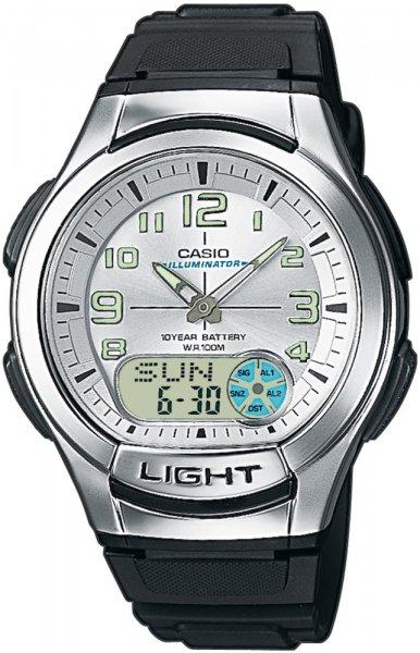 Zegarek męski Casio analogowo - cyfrowe AQ-180W-7BV - duże 1