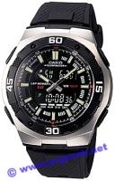 Zegarek męski Casio analogowo - cyfrowe AQ-164W-1AVEF - duże 2