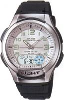 Zegarek męski Casio analogowo - cyfrowe AQ-180W-7BV - duże 3