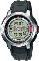 Zegarek męski Casio analogowo - cyfrowe AQF-100W-7BVEF - duże 1