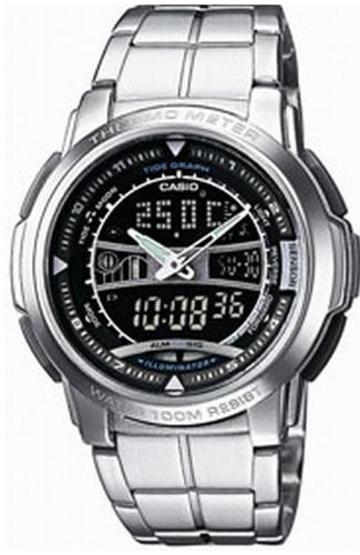 Zegarek męski Casio analogowo - cyfrowe AQF-101WD-1BVEF - duże 1