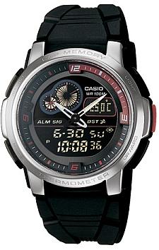 Zegarek męski Casio analogowo - cyfrowe AQF-102W-1B - duże 1