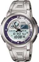 Zegarek męski Casio analogowo - cyfrowe AQF-102WD-2BVEF - duże 1