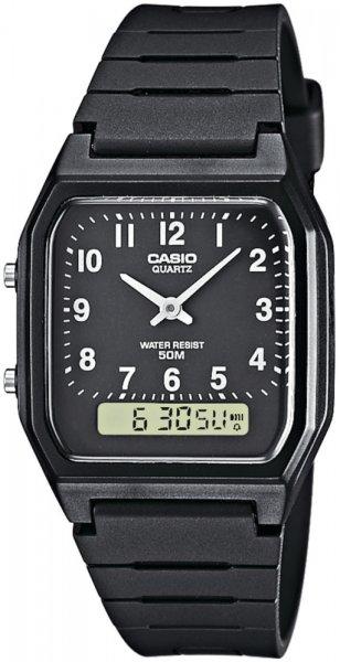 Zegarek męski Casio analogowo - cyfrowe AW-48H-1BV - duże 1