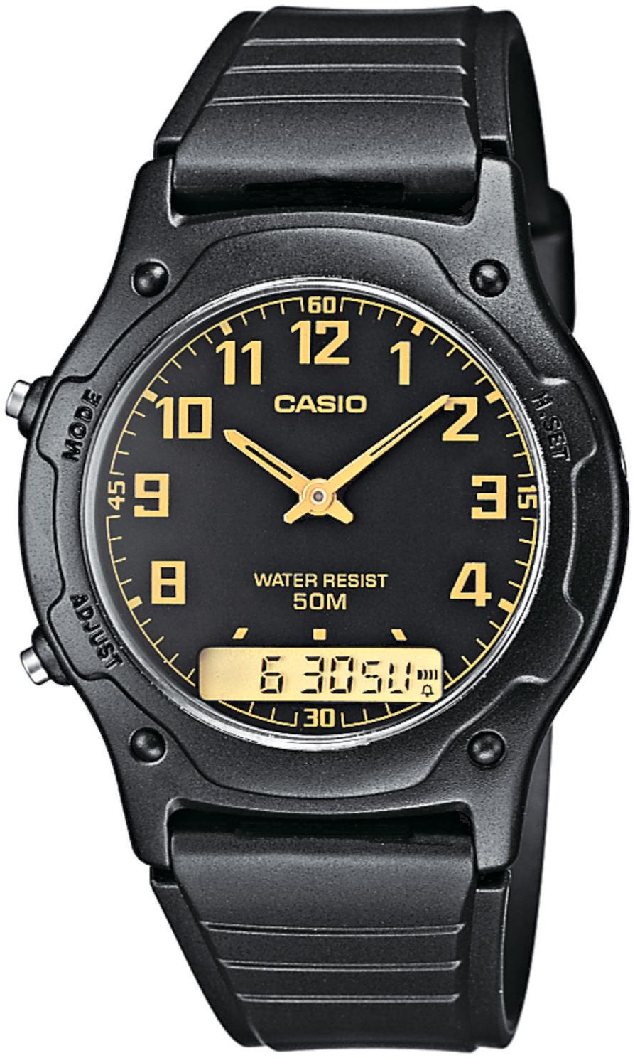 Casio AW-49H-1BV-POWYSTAWOWY Analogowo - cyfrowe