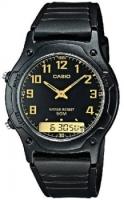 Zegarek męski Casio analogowo - cyfrowe AW-49H-1BV - duże 1