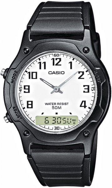 Zegarek męski Casio analogowo - cyfrowe AW-49H-7BV - duże 3
