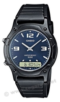 Zegarek męski Casio analogowo - cyfrowe AW-49HE-2AV - duże 2