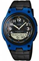 Zegarek męski Casio analogowo - cyfrowe AW-80-2BVEF - duże 1