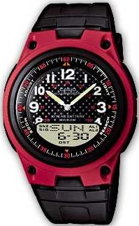 Zegarek męski Casio analogowo - cyfrowe AW-80-4BVEF - duże 1