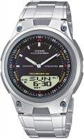 Zegarek męski Casio analogowo - cyfrowe AW-80D-1AV - duże 1