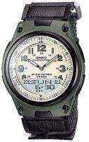 Zegarek męski Casio analogowo - cyfrowe AW-80V-3B - duże 1