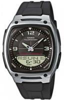 Zegarek męski Casio analogowo - cyfrowe AW-81-1A1VEF - duże 1