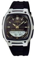 Zegarek męski Casio analogowo - cyfrowe AW-81-1A2 - duże 1