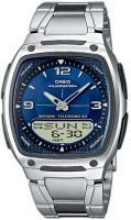 Zegarek męski Casio analogowo - cyfrowe AW-81D-2AVEF - duże 1
