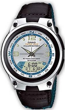 Zegarek męski Casio analogowo - cyfrowe AW-82B-7AVEF - duże 1