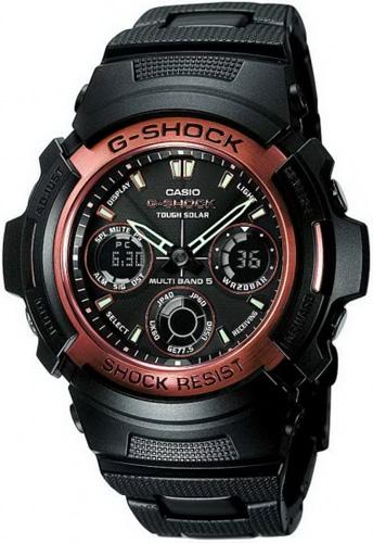 AWG-100BR-1AER - zegarek męski - duże 3