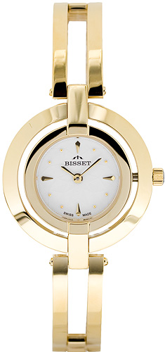 Zegarek damski Bisset biżuteryjne BSBD42G - duże 1
