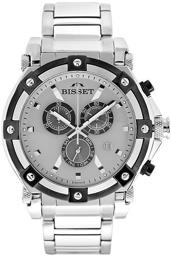 Zegarek męski Bisset sportowe BSDC77S - duże 1