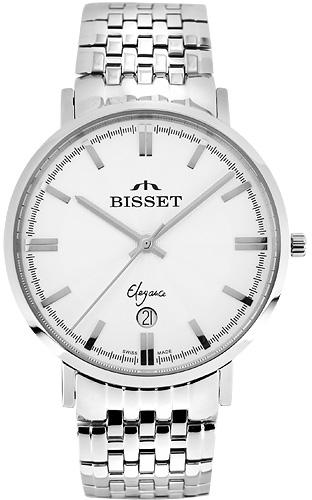 Zegarek męski Bisset klasyczne BSDC89W - duże 1