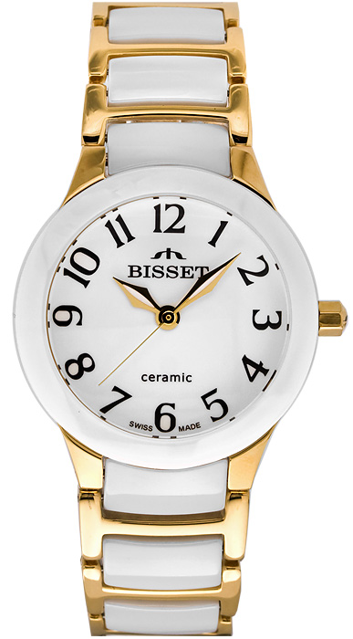 Zegarek damski Bisset biżuteryjne BSPD75G - duże 1