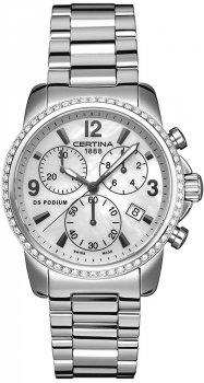 zegarek DS Podium Lady Chrono DIAMONDS Certina C001.217.11.117.10