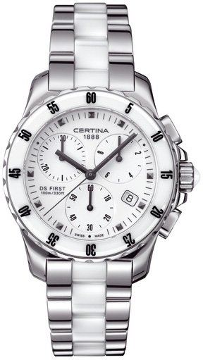 Certina C014.217.11.011.01 DS First DS First Lady Ceramic Chrono