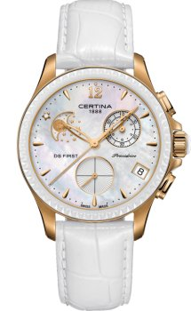 zegarek DS First Lady Chronograph Moon Phase Certina C030.250.36.106.00