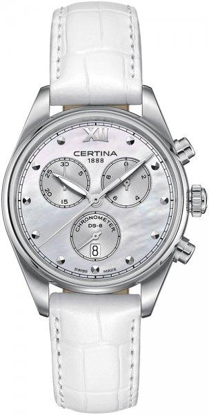 Zegarek Certina DS-8 Lady Chronograph - damski  - duże 3