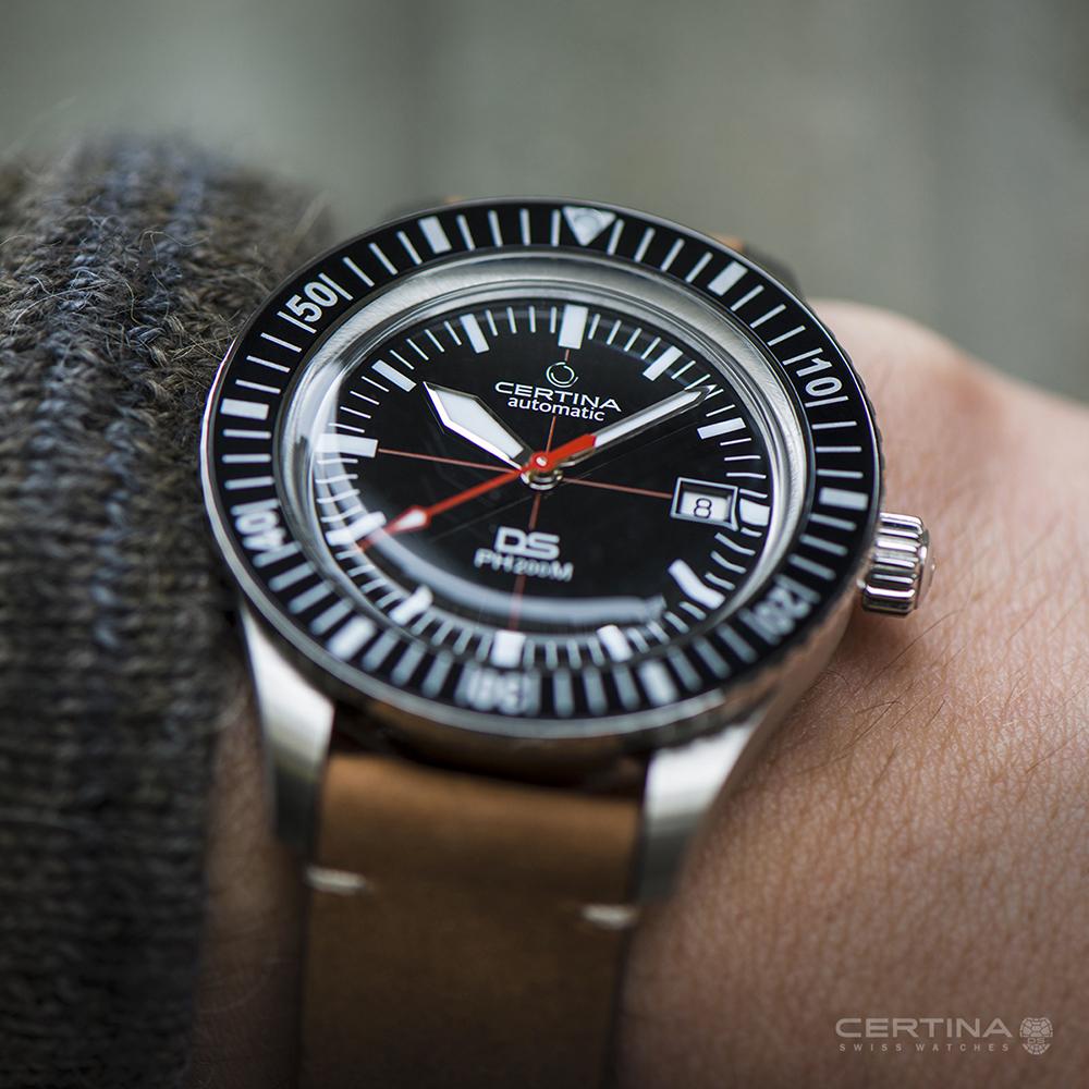 Stylowy, męski zegarek Certina z mechanizmem automatycznym oraz rezerwą chodu do 80 godzin.